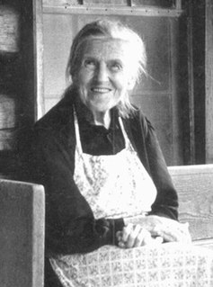 woman who provided oral history and inspiration for Foxfire