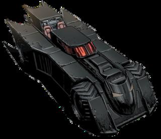 Batmobile automobile of DC Comics superhero Batman