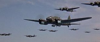 Battle of Britain (film) - The Luftwaffe armada included over 50 real aircraft. (screenshot)