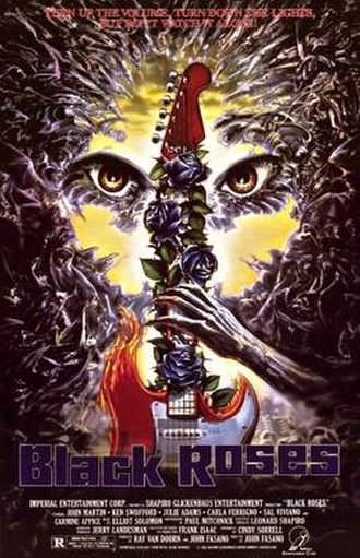 Black Roses (1988 film) - Theatrical release poster
