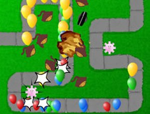 Bloons Tower Defense - A screenshot of the original Bloons Tower Defense.