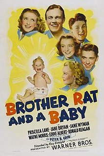 <i>Brother Rat and a Baby</i> 1940 film by Ray Enright