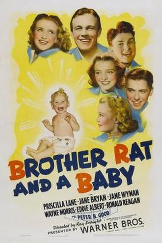 Brother Rat and a Baby - Theatrical release poster