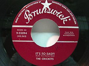 It's So Easy! (The Crickets song) - Image: Buddy Holly Its so easy 45
