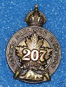 Cap Badge - 207th (Ottawa-Carleton) Overseas Battalion.jpg