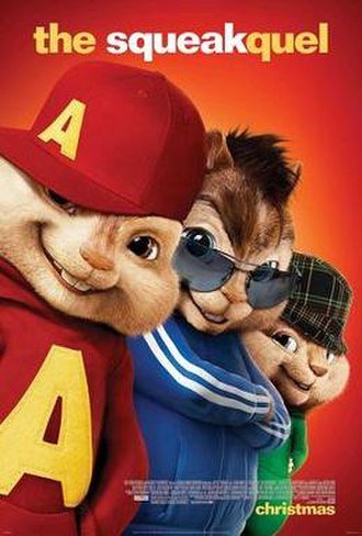 Alvin and the Chipmunks: The Squeakquel - Theatrical release poster