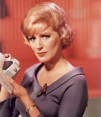 Christine Chapel - Promotional image of Majel Barrett as Christine Chapel in Star Trek: The Original Series