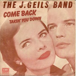 Come Back (The J. Geils Band song) - Image: Come Back single cover