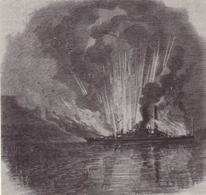 CSS Curlew - Image: Curlew Burning 1