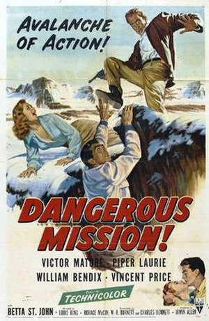 Dangerous Mission - Theatrical release poster