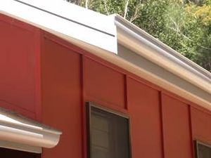 Fiber cement siding - Detail - timber battens on fiber cement cladding, dwelling addition, Hardys Bay, NSW, Australia