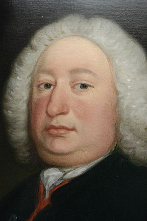South Wootton - Detail of a portrait of Anthony Hamond (died 1743) of South Wootton. Attributed to Thomas Bardwell. Hamond was one of the brothers-in-law of Sir Robert Walpole.