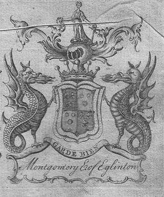Murder of Hugh Montgomerie - The 1764 coat of arms of the Montgomeries, Earls of Eglinton.