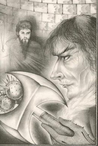 The Eyes of the Dragon - Flagg (pictured right) with King Peter from The Eyes of the Dragon. Art by David Palladini
