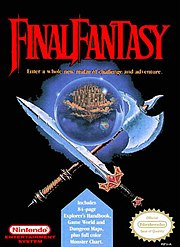 Cover of the North America release of Final Fantasy for the Nintendo Entertainment System
