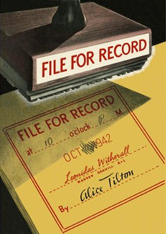 File for Record - First edition (US)