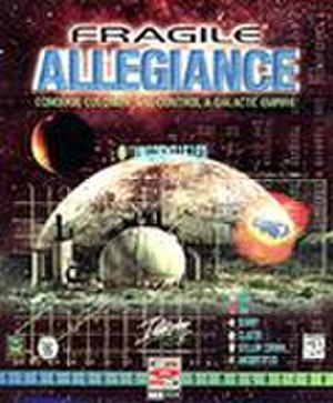 Fragile Allegiance - For the US market, the box art omits the dead colonist in the foreground and the nuclear fireball; other elements of the image have been rearranged.