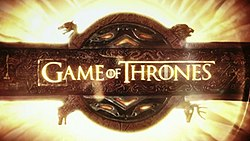Main title card for Game of Thrones