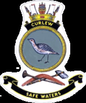 HMAS Curlew - Ship's badge