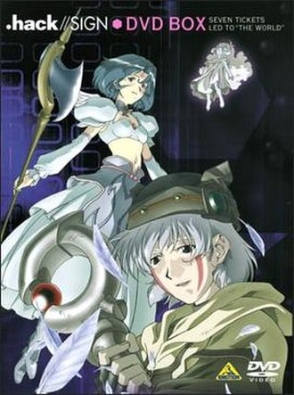 .hack//Sign - Tsukasa (front), Aura (right), Subaru (left).