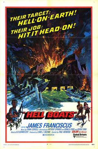 Hell Boats - Original film poster by Frank McCarthy