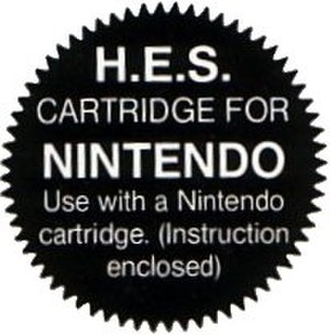 Home Entertainment Suppliers - HES seal to mimic the Nintendo Seal of Quality.