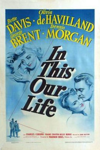 In This Our Life - Theatrical release poster