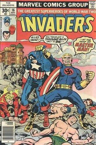 Master Man (Marvel Comics) - Image: Invaders 16