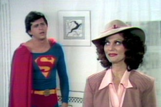 It's a Bird...It's a Plane...It's Superman - David Wilson and Lesley Ann Warren as Superman and Lois Lane in ABC's 1975 TV production of the musical.