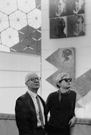 John de Menil - John de Menil with Andy Warhol, Montreal, 1968