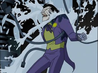 Batman Beyond: Return of the Joker - The Joker's death in the edited version of the film (Not-Rated).