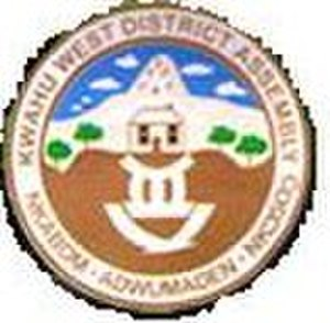Nkawkaw - Image: Kwahu West Municipal District logo