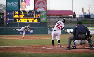 Lansing Lugnuts - The Lansing Lugnuts at Oldsmobile Park in 2009