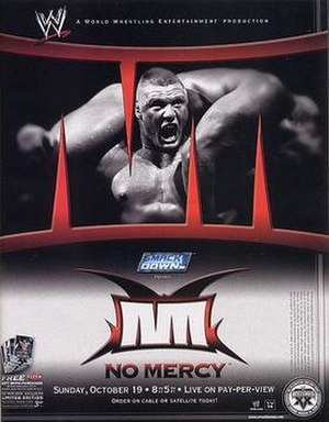 No Mercy (2003) - Promotional poster featuring Brock Lesnar