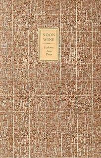 <i>Noon Wine</i> book by Katherine Anne Porter