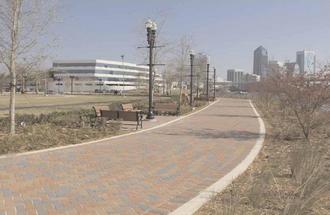 Jacksonville Riverwalks - Newest section of Northbank Riverwalk