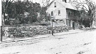 William Phelps (colonist) - Photo of The Mather School built in 1694 as of 1913. This school was replaced in 1798 when the town voted to sell the old school and build a new one of brick on Meeting House Hill
