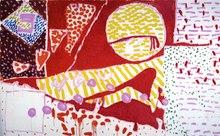 Patrick heron red garden painting 1985.tif