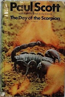 <i>The Day of the Scorpion</i> 1968 book by Paul Scott