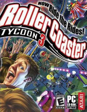 RollerCoaster Tycoon 3 - North American cover art