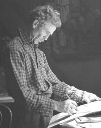 Ralph Stackpole - Stackpole in his studio in 1940 photo by Peter Stackpole for LIFE magazine