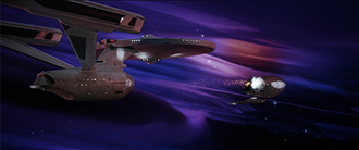 USS Enterprise (NCC-1701) - Image: S02 battle in the mutara nebula