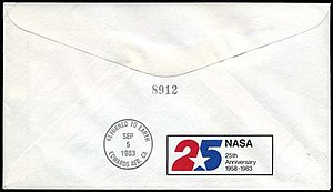 Astrophilately - The back of each cover was marked with a serial number.