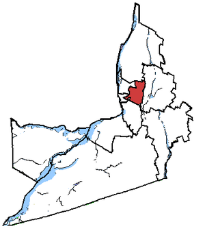 Saint-Bruno—Saint-Hubert - Saint-Bruno—Saint-Hubert in relation to other Montérégie federal electoral districts.