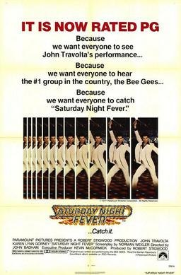 Saturday night fever pg version movie poster