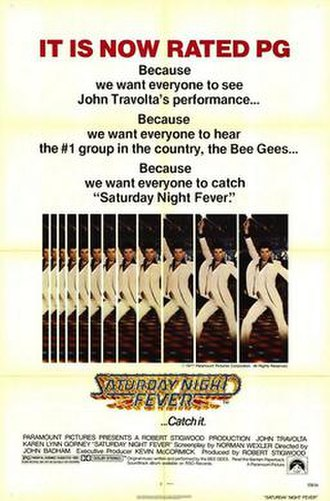 Saturday Night Fever - Movie poster of the PG version of Saturday Night Fever
