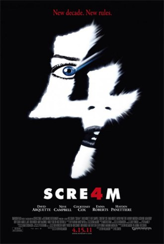 Scream 4 - Theatrical release poster
