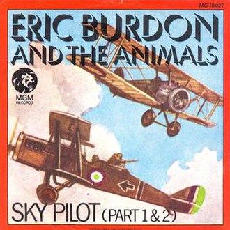 Sky Pilot (song) - Image: Sky pilot 45rpm cover