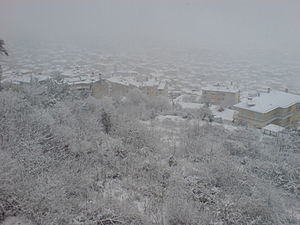 Snow in Veria