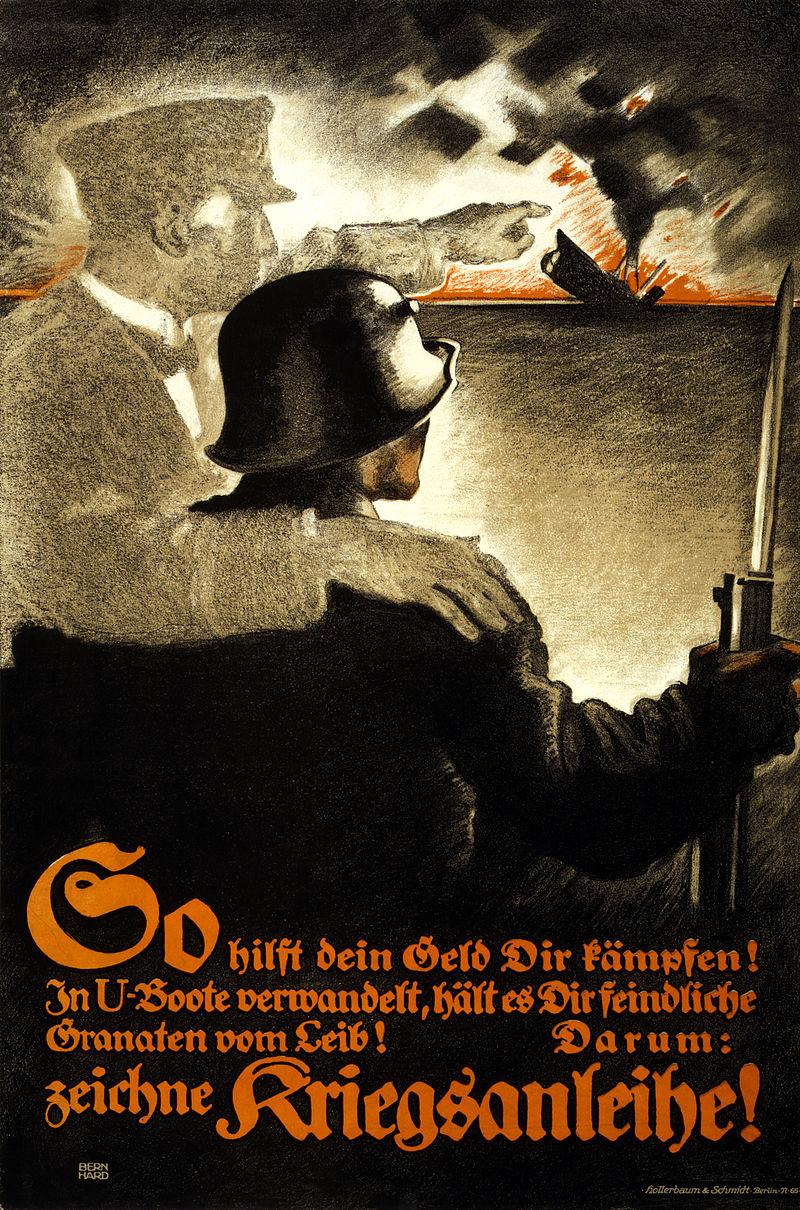 Poster advertising German war bonds